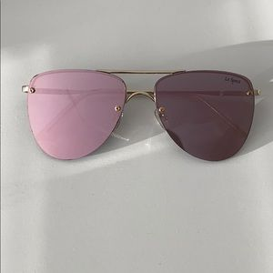Pink and Gold LeSpecs Sunglasses